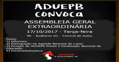 Assembleia Geral Extraordinária – 17/10/2017