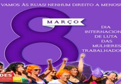 ANDES-SN reforça chamado para mobilizações em 8 de Março