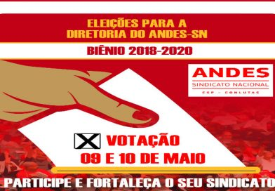 Chapa 01 vence eleição para diretoria do ANDES-SN na base da ADUEPB