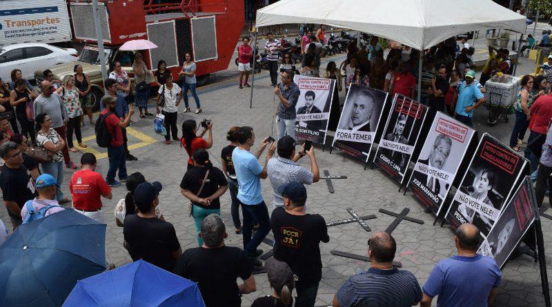 Docentes participam do Dia Nacional de Lutas em Defesa do Serviço Público de Qualidade em todo o país