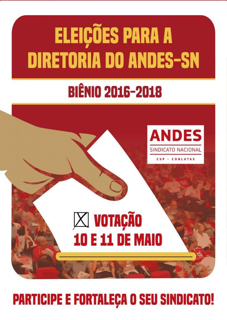 Definidos os locais e horário de votação para eleição da nova diretoria do ANDES-SN