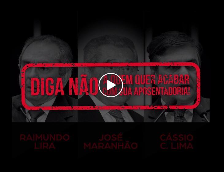 Campanha de midia convoca população a não votar em 2018 naqueles que apoiam a reforma da previdência