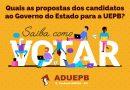 ADUEPB promoverá debates com os candidatos ao governo da Paraíba