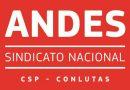 ANDES-SN convoca reunião conjunta dos Setores das Ifes e Iees/Imes para 9 de outubro