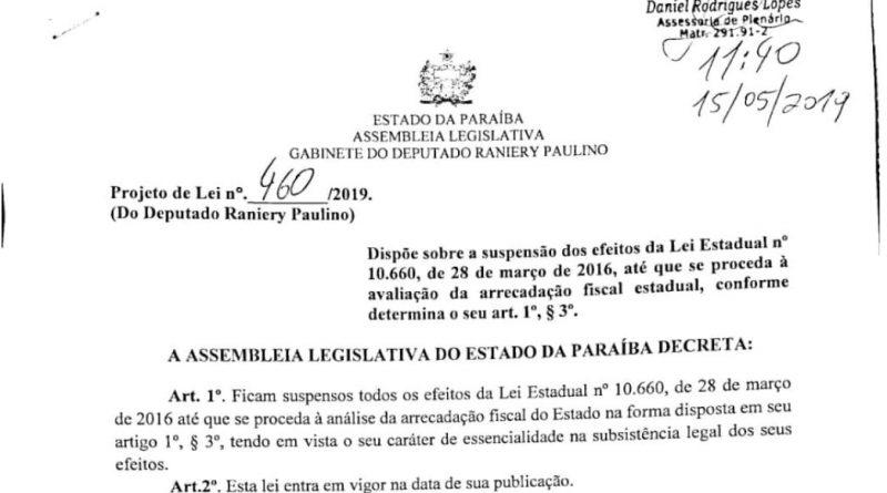 Deputado Estadual atende pedido da ADUEPB e apresenta projeto descongelando progressões dos docentes