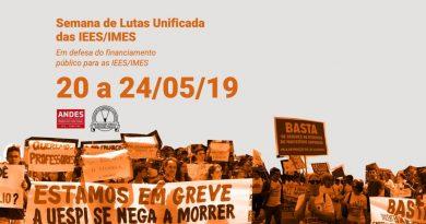 Semana de Luta das IEES/IMES vai até sexta (24)