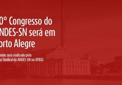 Porto Alegre sediará o 40º congresso do Sindicato Nacional
