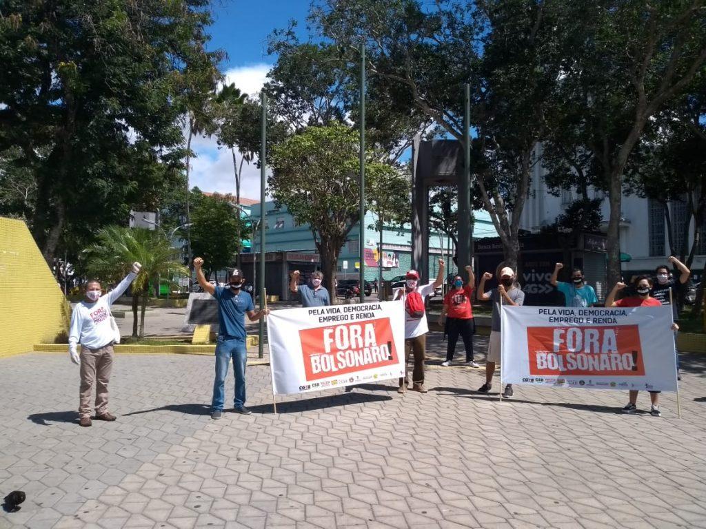Sindicatos e movimentos realizam ato por Fora Bolsonaro/Mourão e em defesa da vida, emprego, renda e democracia
