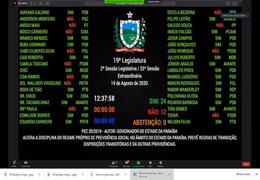 Assembleia aprova reforma da previdência em segundo turno sem considerar artigos excluídos na primeira votação
