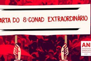 Carta do 8º Conad Extraordinário do ANDES-SN