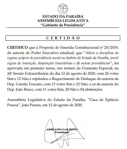 Presidência da Assembleia não respeita regimento em votação da reforma previdenciária e tenta mudar resultado para beneficiar Governo