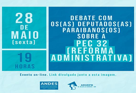 Plenária de sindicatos e centrais discute proposta de reforma administrativa com parlamentares da PB