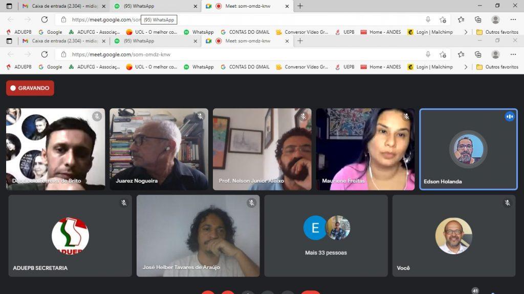 Professores da UEPB decidem ampliar luta contra PEC da reforma administrativa do Governo Bolsonaro